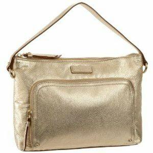 Kate Spade Gold Sammie La Casita Handbag